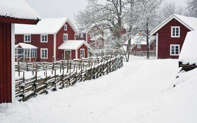 Vinter på Åsens by